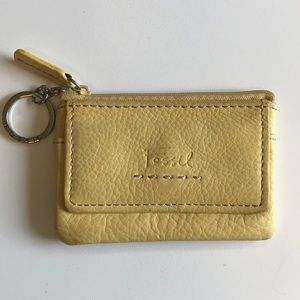 Fossil coin and key ring